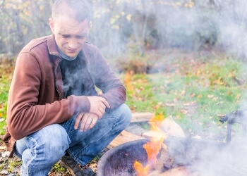 Why you should prevent campfire smoke from coming to you